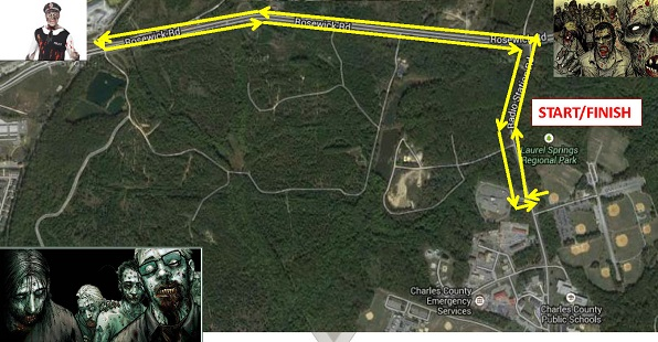 Zombie Invasion 5K Route