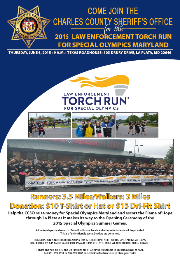 2015 Torch Run Flyer