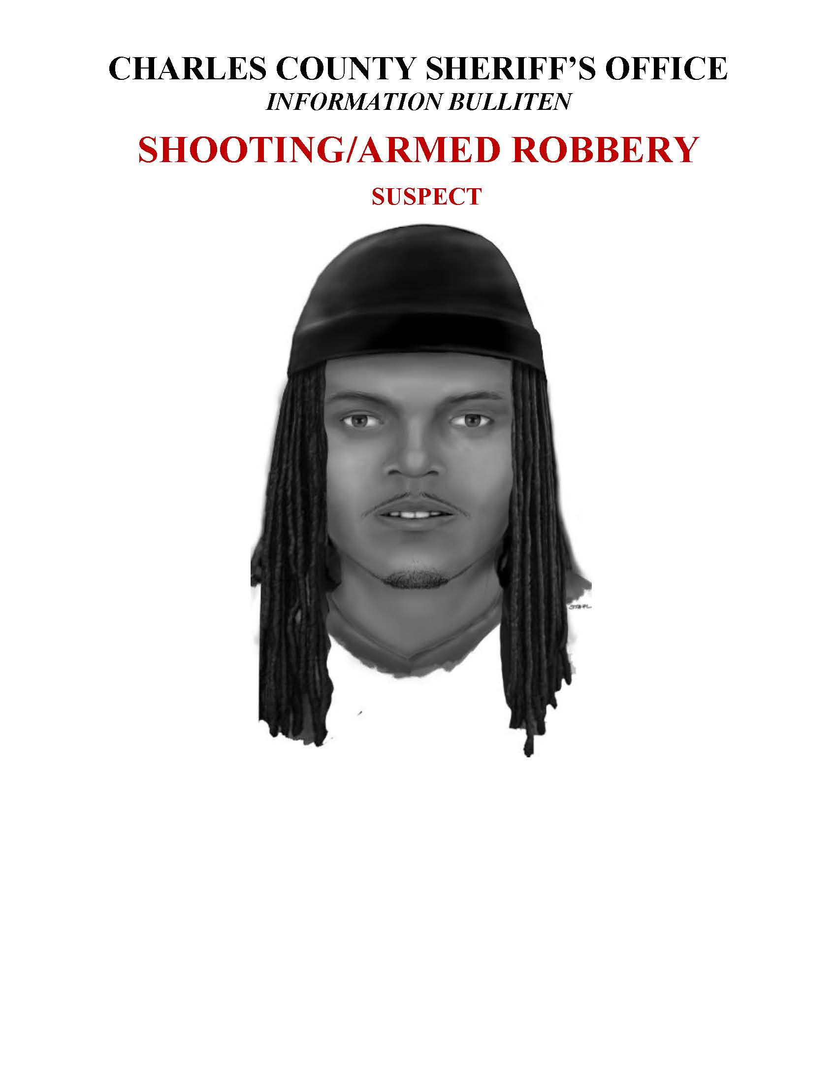 Composite Sketch of Shooting Suspect (St  Pauls' Drive)