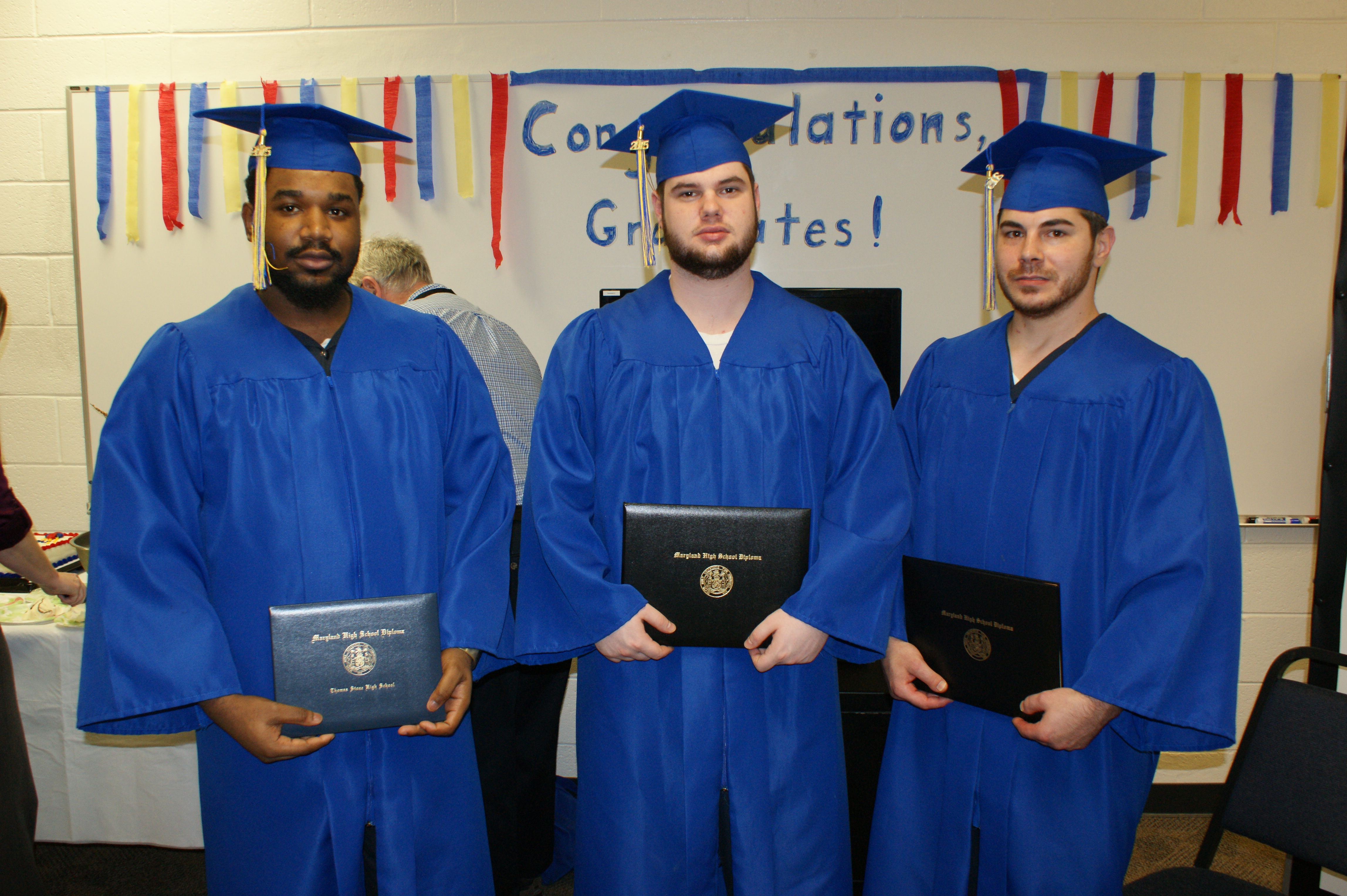 CCDC Inmates celebrate their graduation.