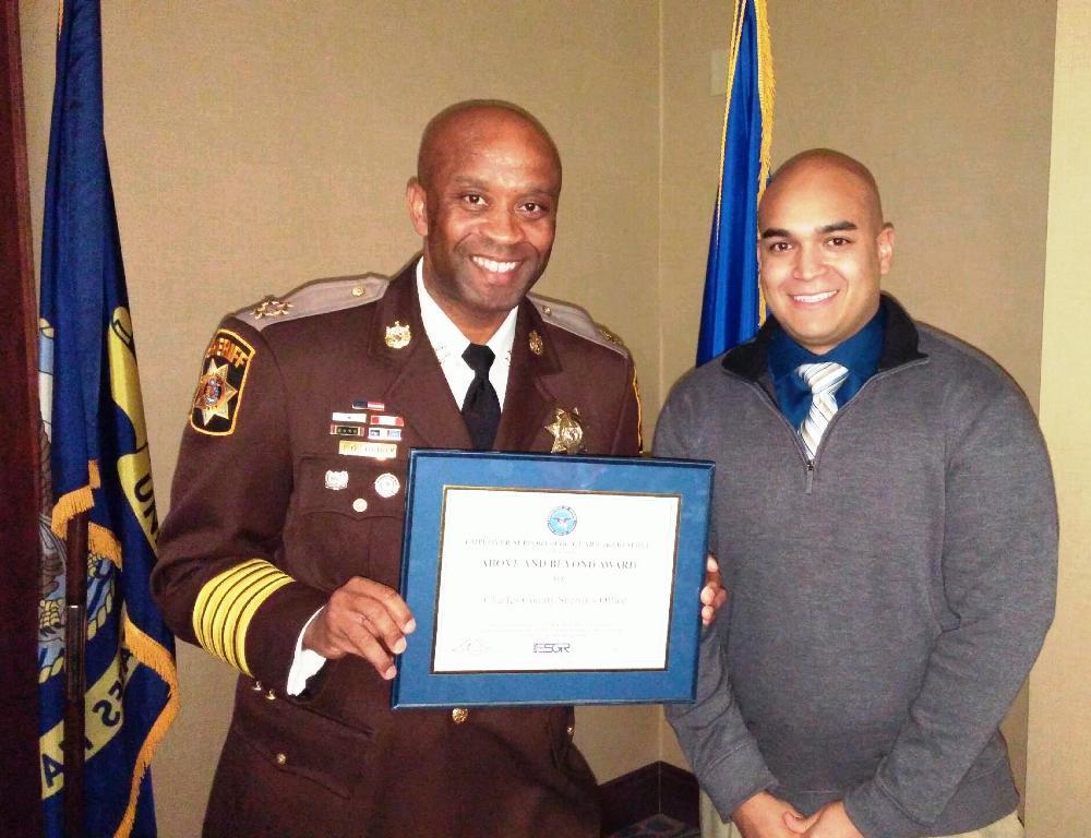 ESGR Award 040916 Sheriff Berry and Jay Mejia