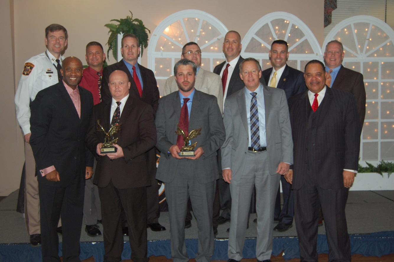 From left to right, top to bottom: Capt. Stephen Salvas, Maj. Chris Becker, Capt. Scott Whitcraft, Lt. Craig Stillwell, Lt. Joe Pratta, Lt. David Kelly, Maj. Dave Saunders, Sheriff Troy Berry, Cpl. Chris Shankster, Pfc. Vernon Warker, Chief of Staff Mr. Phil Hinkle, and the Honorable Tony Covington