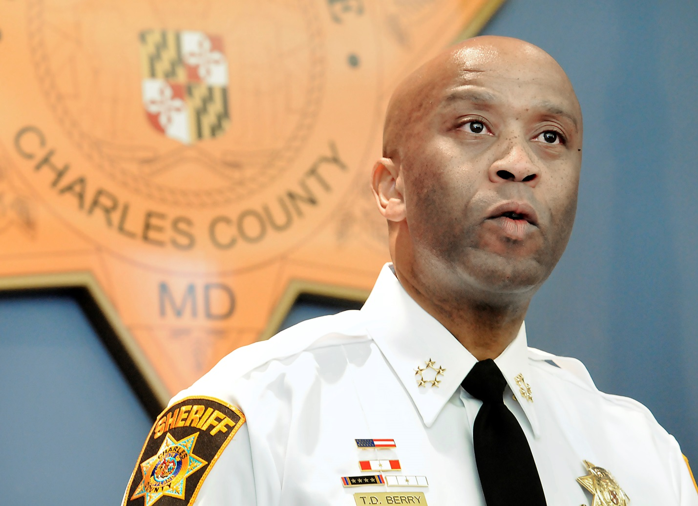 Sheriff Berry announces the indictment of Raymond Daniel Posey III in connection with the murder of Crystal Anderson (Photo Courtesy of the Maryland Independent)