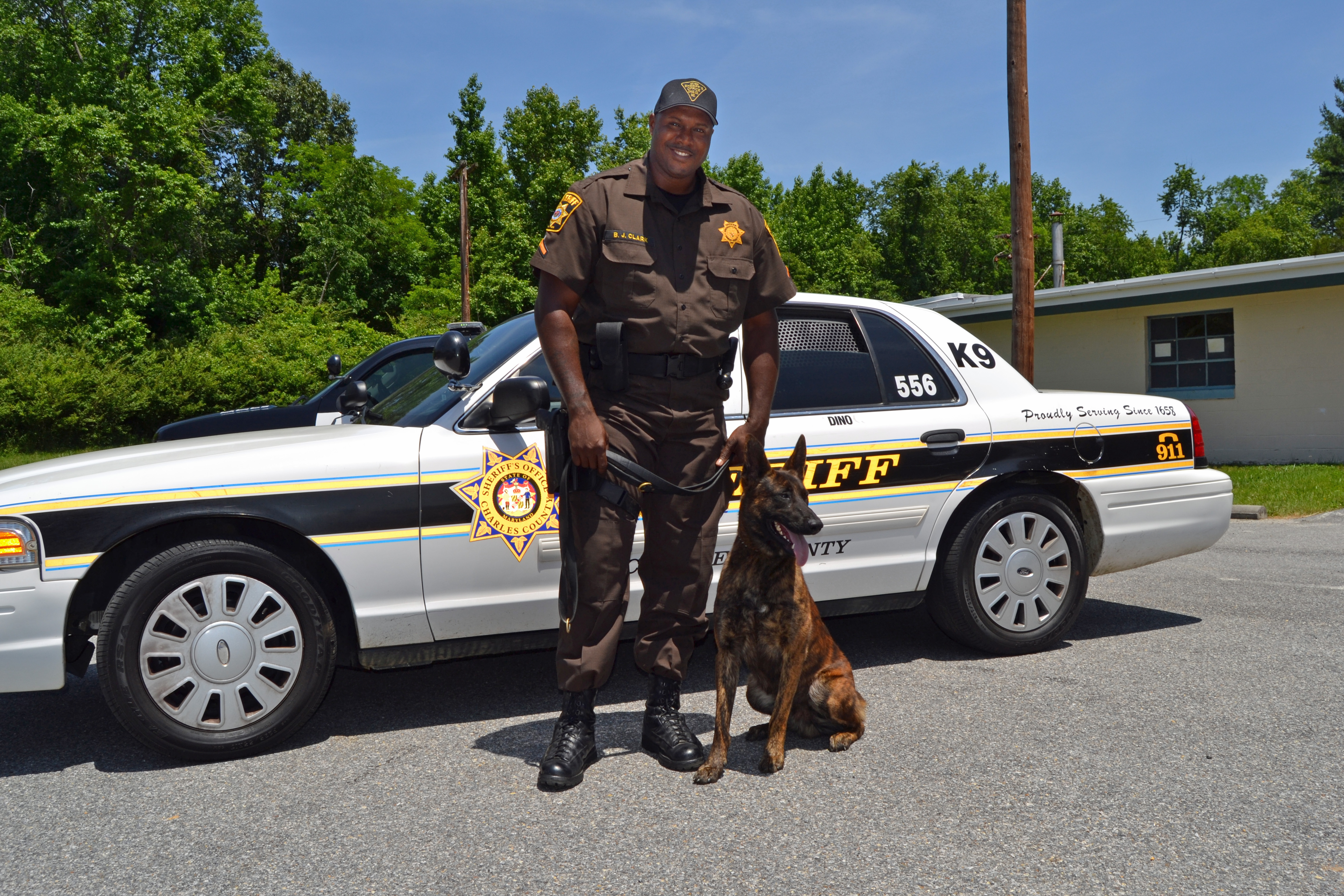 PFC Byron Clark and K9 Partner Dino, a Dutch Shepherd