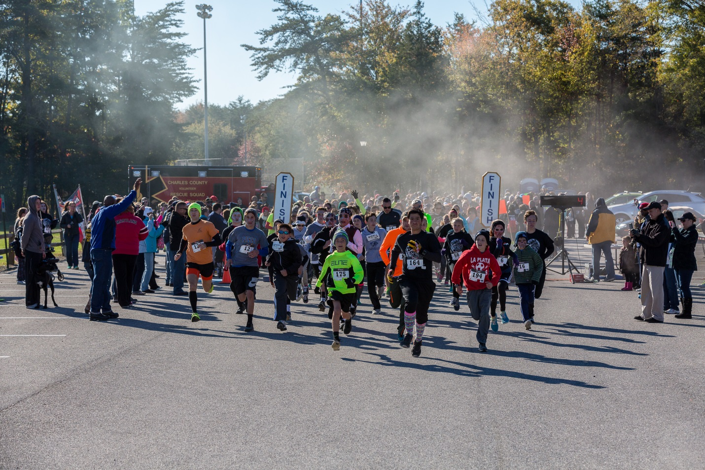 Runners‒and zombies‒begin the 3.1-mile Zombie Invasion 5K